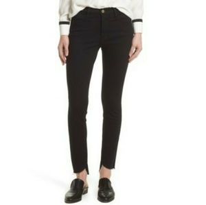 Frame Le High Skinny Step Hem Black Jeans